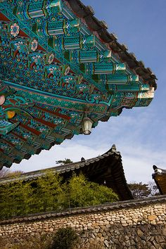 Roof Painting, Haeinsa Temple, Korea