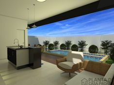 CS - 0027 projeto-planta-casa-sobrado-arquitetura-moderna-180-metros-terreno-8x25 (12) Cs, Outdoor Furniture Sets, Outdoor Decor, House, Home Decor, Ideas, Duplex House Plans, House 2, Modern Architecture
