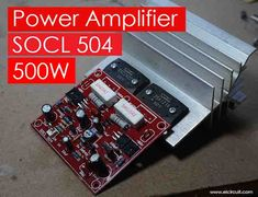 The power amplifier circuit SOCL 504, 500-2000 Watt is one of a high power amplifier power circuit that can be used for field or outdor power amplifier so as to enable rental of your sound system either in high position in tweeter or line of midle or bass array on 15 inch or it could be on a sub low at 18 inches.
