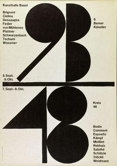 Armin Hofmann, Kunsthalle Basel, 9 Berner Künstler, Kreis 48, 1955