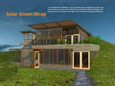 earth sheltered home with water | Slimstove & Homework_Earth Shelter Study