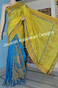 Kalamkari patch work saree