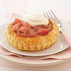 Ingredients Makes: 18 tartlets 1  box (17.3 ounces) puff pastry, thawed but still cold 2  cups chopped rhubarb 1/2 cup sugar 2 teaspoons cornstarch 1/2  cu