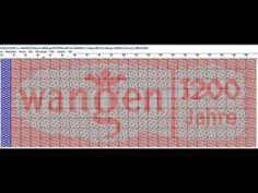 1200 Jahre Wangen JACQUARD Seidenschal - YouTube