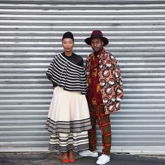 """I live for fashion moments like these. Wearing @chusuwannapha, @asandasizani wearing @ntombobom. All made in Africa. Pic credits: @accordingtojerri…"""