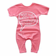 Baby Girl's Wordy Printed Cotton Bodysuit in Pink, 53% discount @ PatPat Mom Baby Shopping App