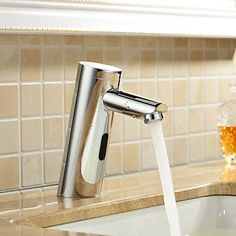 Cheap faucets online, Buy Quality faucet tap directly from China tap fashion Suppliers: Automatic Hand Touch free Single Handle cold Deck Mounted Brass Basin Sensor Faucet Bathroom Sink Sensor Tap Bathroom faucet Bathroom Sink Taps, Brass Bathroom, Cheap Bathrooms, Amazing Bathrooms, Kitchen Fixtures, Bathroom Fixtures, Architecture Design, Basin Taps, Bathroom Layout