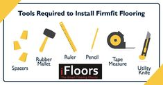 To make your FirmFit Flooring Vinyl floor installation even EASIER, we've come up with a few tools you will need before starting the job. The FirmFit Flooring range is extremly #DIY friendly and there is no need for any specialized tools. View the complete FirmFit Flooring range at IFloors Africa
