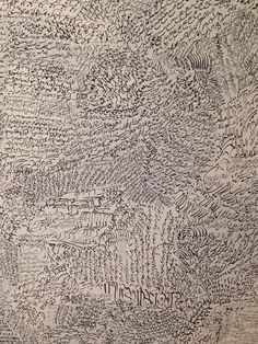 Prayer (close up) by Siah Armajani, 1962. Seen at the Walkers 75 years show in Jan 2015