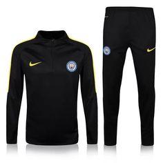 Manchester City Football UCL 1//4 Zip Training Top Mens Yellow