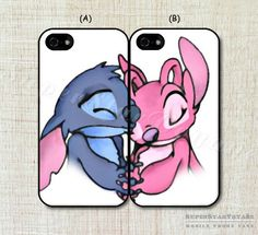 Stitch and Angel Couple Case Best Friend Cases for iPhone 5/5S - iPhone 4/4S - iPhone 5C - Samsung Galaxy S5/S4/S3 Note 3/ Note 2 by SuperStarVoyage on Etsy