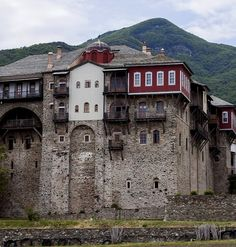 Monastery of Iviron, Mount Athos, Greece The Holy Mountain, Christian World, Byzantine Icons, Church Architecture, Macedonia, Italy Travel, View Photos, The Good Place, Adventure