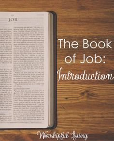 Suffering. Why does it happen. The book of Job teaches us much about suffering. Come and join us.
