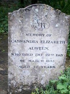 Grave of Jane's sister, Cassandra Elizabeth Austen, in St Nicholas Churchyard, Chawton