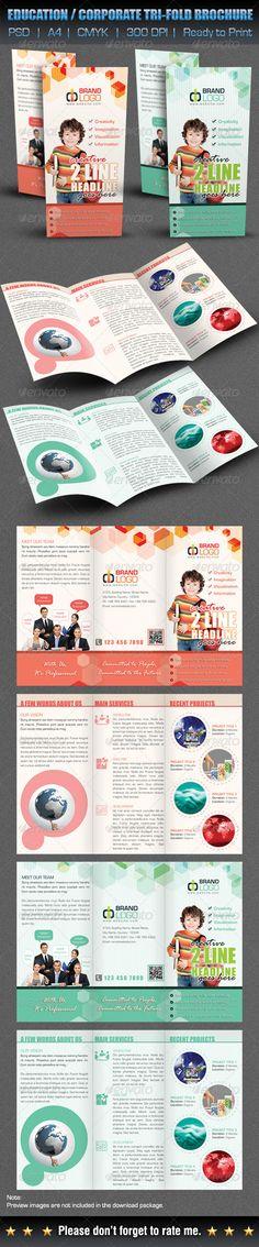 Creative / Education / Corporate Tri-Fold Brochure - Corporate Brochures