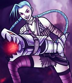 How to draw Jinx | League of Legends