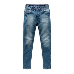 Autumn New Italy Classic Blue Denim Pants Men Slim Fit Trousers Male High Quality Cotton Fashion Jeans