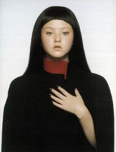 Devon Aoki photographed in Hussein Chalayan by Inez & Vinoodh