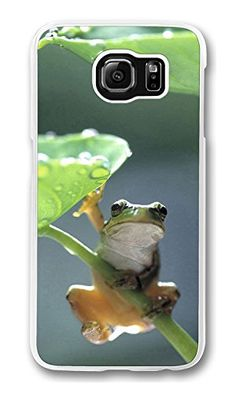 Case, Galaxy Case, Frog Under Lotus Leaf Shock Absorption Bumper Case Protect Slim Fit Hard PC Clear Edge Cover for Samsung Galaxy Lotus Leaves, Samsung Galaxy S6, Phone Case, Lunch Box, Cases, Slim, Education, Amazon, Amazons