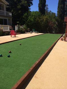 Pergola Patio, Backyard, Artificial Putting Green, Mid Century Landscaping, Turf Installation, Bocce Ball Court, Desert Homes, House Landscape, House Styles