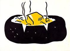 Baked Potato by Roy Lichtenstein 1962  still life