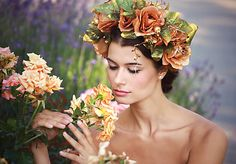 Sohemi_art / Kvetinová čelenka Flower Headbands, Fairy Tales, Crown, Flowers, Art, Art Background, Corona, Kunst, Fairytail