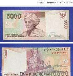 2001 Indonesia 5000 Rupiah from Paula Bueno Sign up at http://app.kollectbox.com/users/register  #banknote   #papermoney   #collectibles   #collectors   #hobby   #buy   #sell   #swap   #exchange   #Indonesia   #marketplace   #ecommerce   #startup   #tech