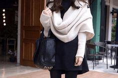 $29 for a Knitted Scarf with Sleeves - Shipping Included