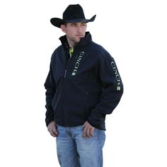 Cinch Black & Yellow Bonded Jacket MWJ1009002
