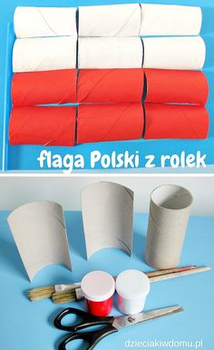 flaga Polski kreatywnie - pomysł na pracę plastyczną Diy And Crafts, Crafts For Kids, Arts And Crafts, Paper, Patriots, Manualidades, Crafts For Toddlers, Kids Arts And Crafts, Art And Craft