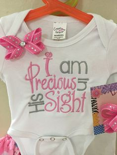 I am precious in his sight onesie, precious onesie, christian onesie, shirt, baby onesie, newborn onesie