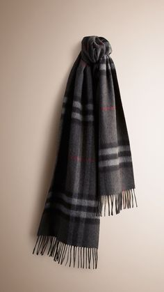 f9df0c50572 Burberry Classic Cashmere Scarf in heritage check is made at a 200-year-old