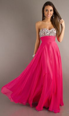 Low Back A Line Sweetheart Fuschia Prom Dress 2013 @Paigh Long This one, shorter would be very pretty.
