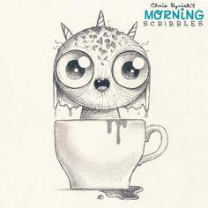 Artist Chris Ryniak  Coffee!!!!☕️ #morningscribbles