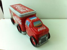 2003 Coke Coca Cola Tin Christmas Santa Claus Semi Truck Toy with Wheels Mint | eBay