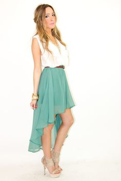 I would like to try wearing one of these high-low skirts, they look really cute