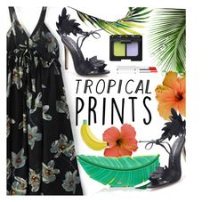 """""""Hot Tropics"""" by ansev ❤ liked on Polyvore featuring Kate Spade, NARS Cosmetics, Lancôme, tropicalprints, zaful and hottropics"""