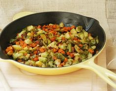Roasted Brussel Sprout, Bacon, Sweet Potato and Apple Hash  @Multiply Delicious