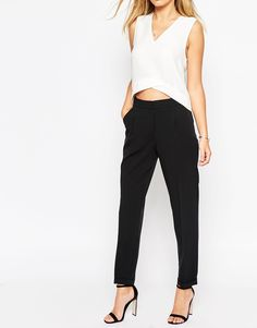 Image 4 of ASOS Peg Pants Available in Leg Lengths