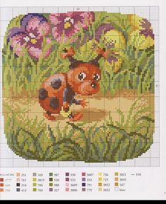 30 Cross Stitch Fairy, Cross Stitch For Kids, Beaded Cross Stitch, Cross Stitch Animals, Cross Stitch Charts, Cross Stitch Patterns, Diy Embroidery, Cross Stitch Embroidery, Animal Decor