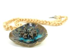Ceramic jewelry A beautiful golden brown by ceramicjewelrymaking, $37.00