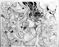 Double pager. Wolverine and the X-Men for Marvel Comics. Pencils: Nick Bradshaw, Inks: Walden Wong Sub me at www.youtube.com/WaldenWongArt #wolverine #xmen #xman #marvel #marvelcomics #comic #mcu #stanlee #inking #inks #inker #penandink #art #artwork #arts #sketch #sketching #draw #drawing #commission #sketchbook #arts #arte #artwork #artoftheday #artstation #drawings #sketchoftheday #dccomics #doodle #sketchbook #artstudio #drawingsketch