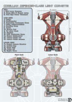 Corellian Defender-Class Light Corvette by DanielHasenbos.deviantart.com on @DeviantArt