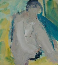"""Saatchi Art Artist Victor van de Lande; Painting, """"Zittend naakt"""" #art"""
