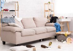 Comment nettoyer un canapé tissu - Tout pratique Sofa, Couch, Furniture, Home Decor, Studio, Cleaning Tips, Cleanser, Homemade Stain Removers, Diy Ideas For Home
