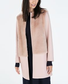 MIXED FUR ROUND NECK COAT - Woman - NEW THIS WEEK | ZARA Ireland