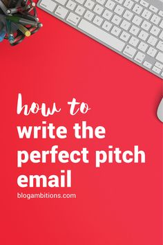 Want to work with a company or collaberate / guest post for bigger blogger? Then you need to read this post: How to Write the Perfect Pitch Email.