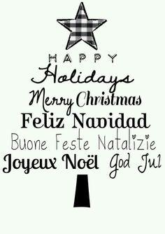 Navidad en diferentes idiomas
