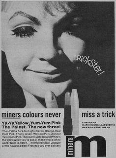 Miners Lipstick Ad
