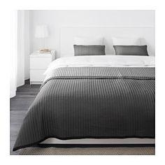 IKEA - KARIT, Colcha y funda almohada, 180x280/40x65 cm, , Gracias al acolchado, la colcha y la funda del cojín son muy suaves y mullidas.Colcha con un diseño diferente en cada lado para que puedas cambiar el aspecto del dormitorio.La cremallera oculta te permite quitar fácilmente la funda del cojín.Es fácil de transportar y guardar, ya que el embalaje también se puede utilizar como bolsa.